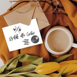 Kreatywny bilecik zdobiony pieczątką Little Nio Ręcznie Zrobione