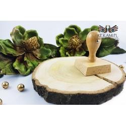 Stempel drewniany kwadratowy