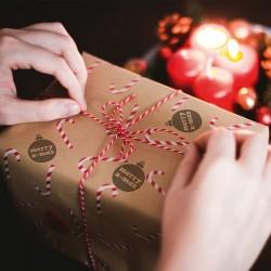 Dekorowanie prezentów na święta. Pieczątka NIO Święta