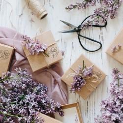 Zdobienie prezentów - Kwiaty - Pieczątka Little Nio Craft