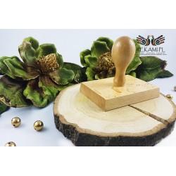 Stempel drewniany prostokątny
