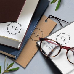 Label your notebook. Little NIO initials stamp.