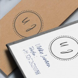 Mark your invitations with the Little Nio Initials stamp