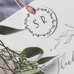 Wedding initials. Your invitations and vignettes. Little Nio rubber stamp.