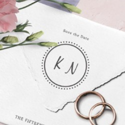 Wedding envelopes with your initials. Little NIO Initials.