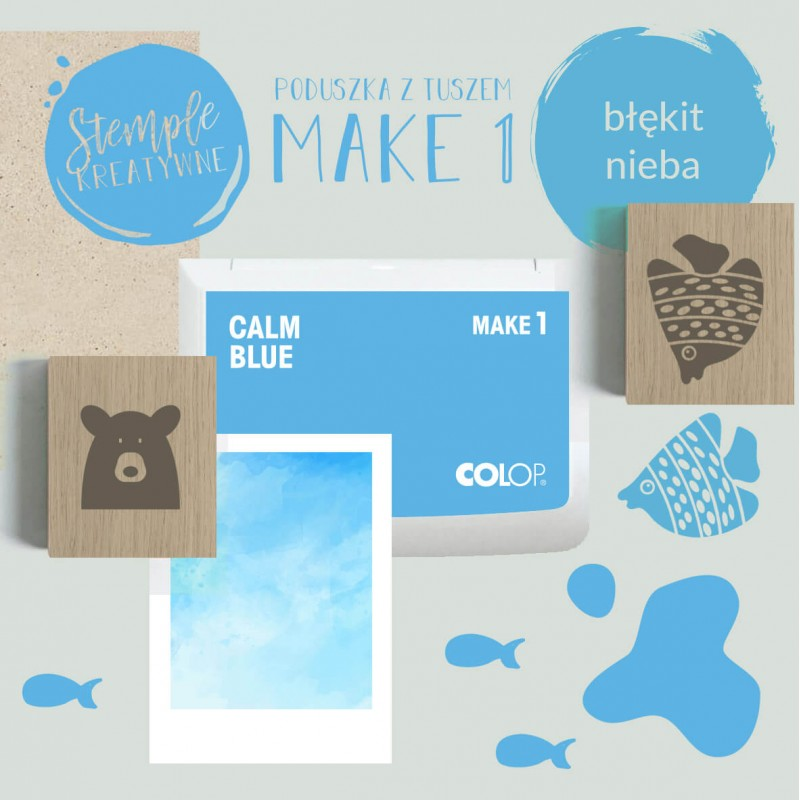 Poduszka Make 1 - Kolor Calm Blue