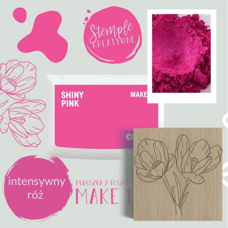 Poduszka tuszująca Make 1 - Kolor Shiny Pink