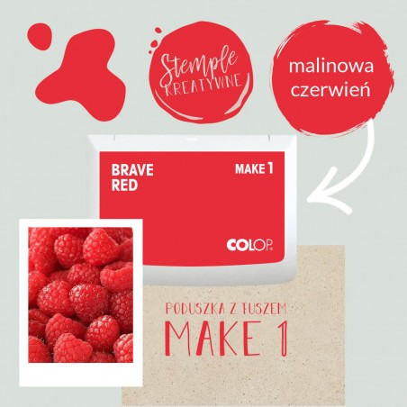 Poduszka tuszująca Make 1 - Kolor Brave Red