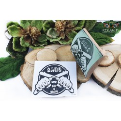 Large wooden stamp - cradle