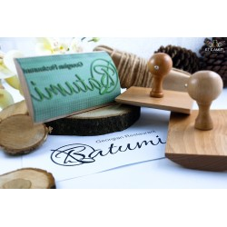 Wooden stamp - Cradle - Realization