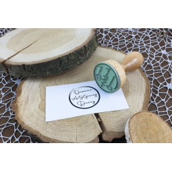 Traditional wooden stamp - Through the eyes of an artistic soul