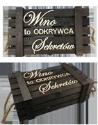 Skrzynki drewniane na każdą okazję. Do wina, telegramów i pamiątek.