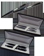 Pióra, długopisy i zestawy piśmienne znakowane laserowo.