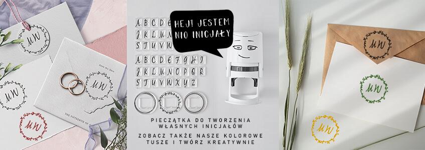 Little NIO Initials stamp for wedding