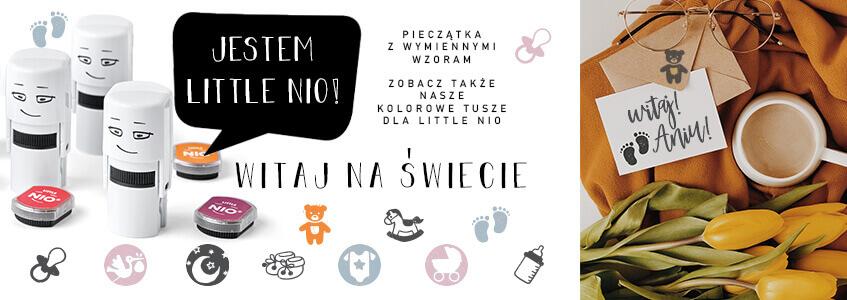 Pieczątki Little Nio - Witaj na świecie